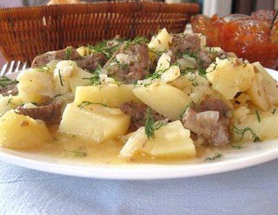 Картофель с говядиной в мультиварке рецепты с фото