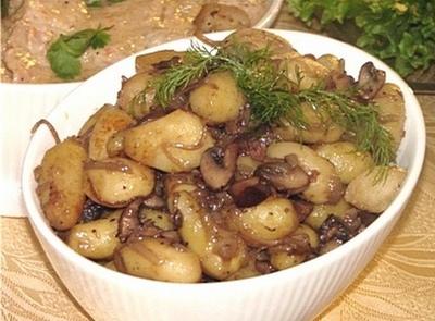 Картошка мясо грибы в мультиварке рецепты с фото
