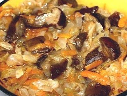 Капуста с грибами в мультиварке рецепты с фото