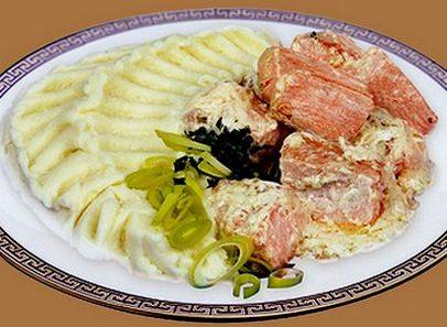 Семга с картошкой в мультиварке рецепт с фото