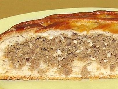 Пирог с мясом в мультиварке рецепт с фото