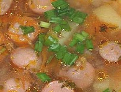 Суп с сосиской в мультиварке рецепт