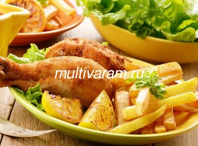 Картошка с луком в мультиварке фото